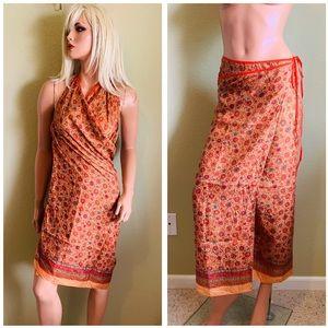 Dresses & Skirts - SEGALINI Boho Folk SILK Wrap Skirt